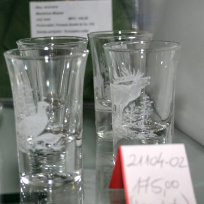 Čašice za rakiju staklo (6 kom)